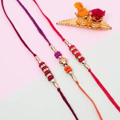 3 Colored Beads Rakhis