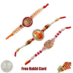 Jewelled Rakhi Set of 3
