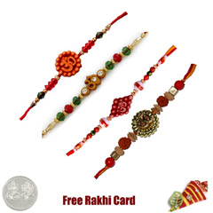 Set of 4 Om Rakhis
