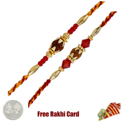 Rudraksh Rakhi Set of 2