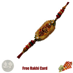 Charming Swastil Rakhi with Fr..