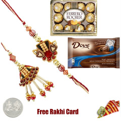 Lumba Rakhi Pair Chocolate Pac..