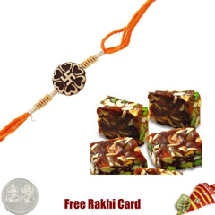 1 Rakhi with Dryfruit Burfi an..