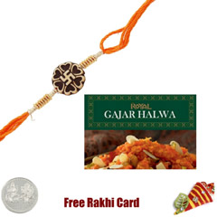 1 Rakhi with Gajar Halwa and a..