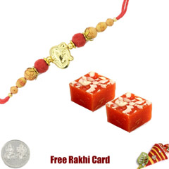 1 Rakhi with Badami Halwa and ..