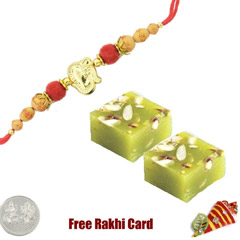 1 Rakhi with Pista Halwa and a..