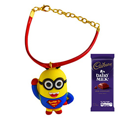 Superman Minion Rakhi Combo