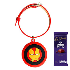 Iron Man Rakhi with Chocolate