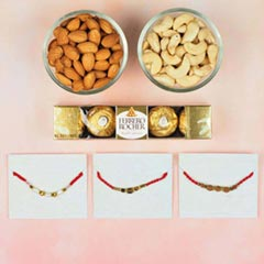 3 Astro Rakhi Set with Dry Fru..