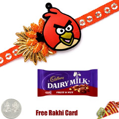 Kids Rakhi with Cadbury Fruit ..