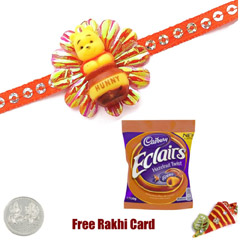Kids Rakhi with Cadbury Eclair..