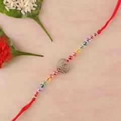 Ek Onkar rakhi in red thread