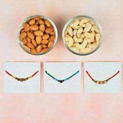 3 Premium Rakhi Set with Dry F..