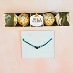 Lava Stone Rakhi With Ferrero ..