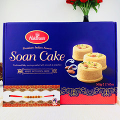 Rakhi With Soan Cake
