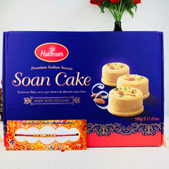Super Rakhi With Soan Cake