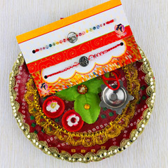 Two Rakhi Set With Traditional..
