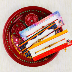 Three Rakhi With Traditional T..