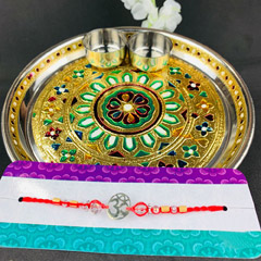 Om Divine Rakhi with Puja Thal..