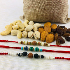 Lucky Stone Rakhi with Mix Dry..