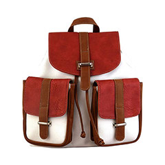 Canvas Solid Color Backpack