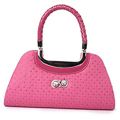 Casual Hand Bag (Hot Pink)