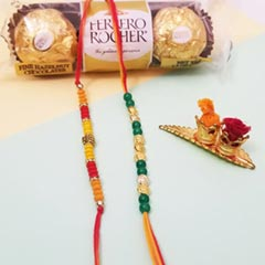 Red Green Rakhis & FR 3pc