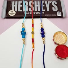 3 Rakhi Set with Hersheys