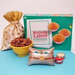 A Rakhi with Boondi Ladoo and ..