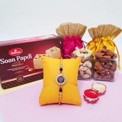 Designer Rakhi, Soan, Cashew &..