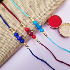 3 Colorful Bead Rakhis