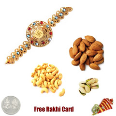 24 Ct. Gold Plated Rakhi with ..