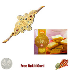 Diviniti 24 Ct. Gold Rakhi wit..
