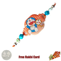 Doremon Rakhi with a Free Silv..