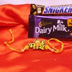 Bhai Rakhi with 2 Chocolates