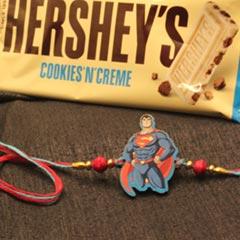 Superman Rakhi with Hershey