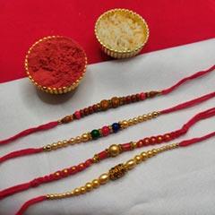 4 Ravishing Rakhi in Set