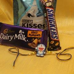 Doraemon Rakhi with Chocolates