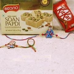Kids Rakhi Combo with Chocolat..