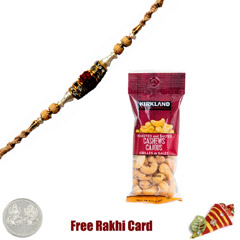 Ethnic Rakhi with 50 grams Cas..