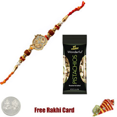 Ethnic Rakhi with 50 grams Pis..
