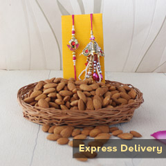 Lumba Rakhi with Almonds