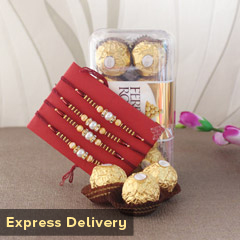 Sugar coated Rakhi Combo