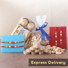 Sweet N Nutritious Rakhi Gift