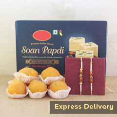 Rakhi with Papdi N Laddu