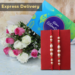 Flower Bouquet with Rakhi