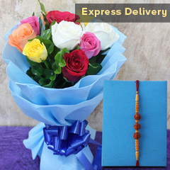Wow Bouquet N Rakhi Combo