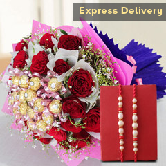 Roses and Choco Bunch Hamper