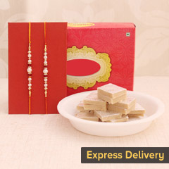 Rakhi Surprise with Kaju Katli