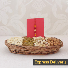 Dry Fruits with Elegant Rakhi